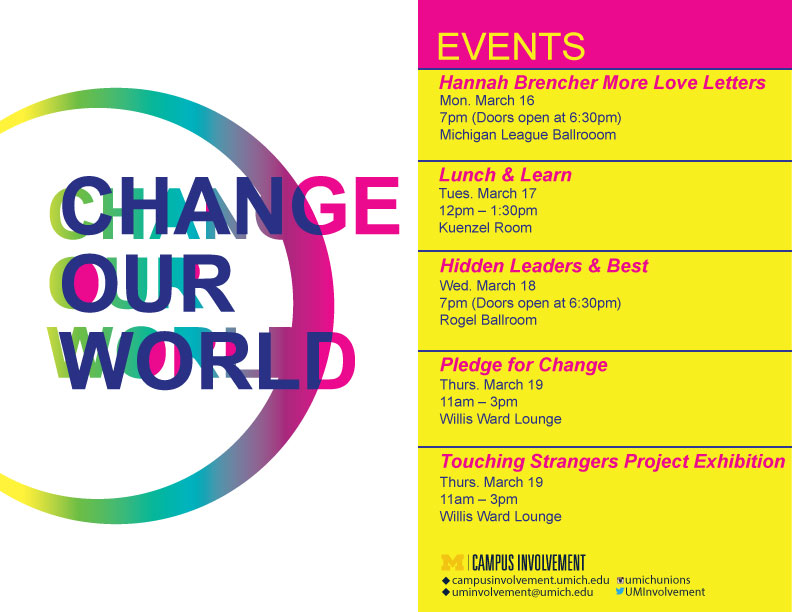 Change Our World | Campus Involvement