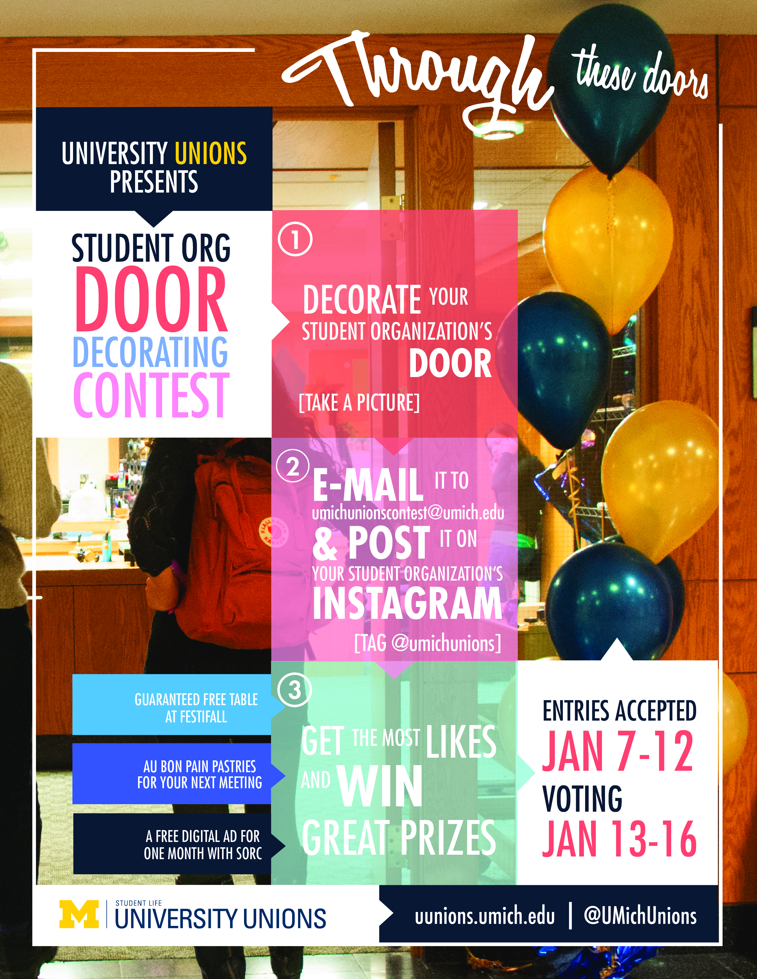 Student Org Door Decorating Contest flyer  sc 1 st  Center for C&us Involvement - University of Michigan & Student Organization Door Decorating Contest | Campus Involvement