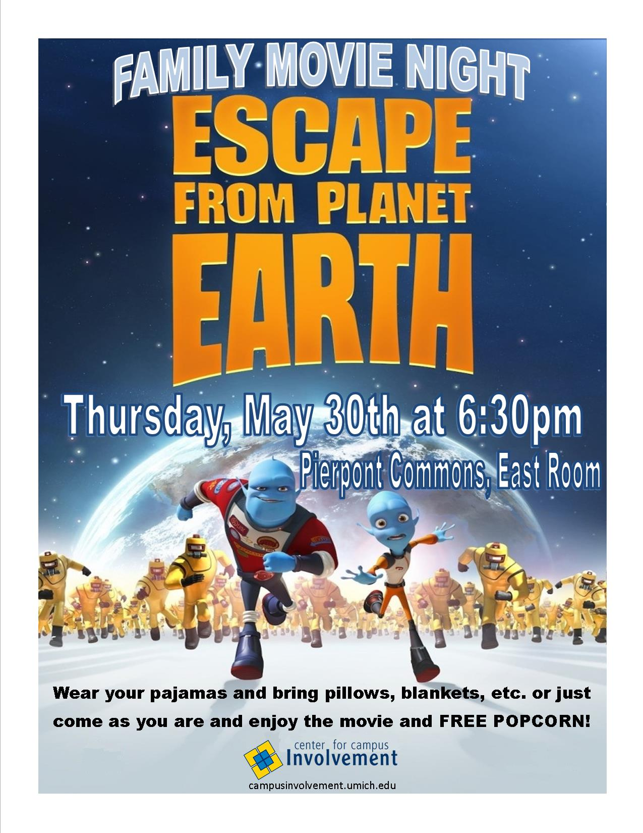 Family Movie Night - Escape from Planet Earth | Campus
