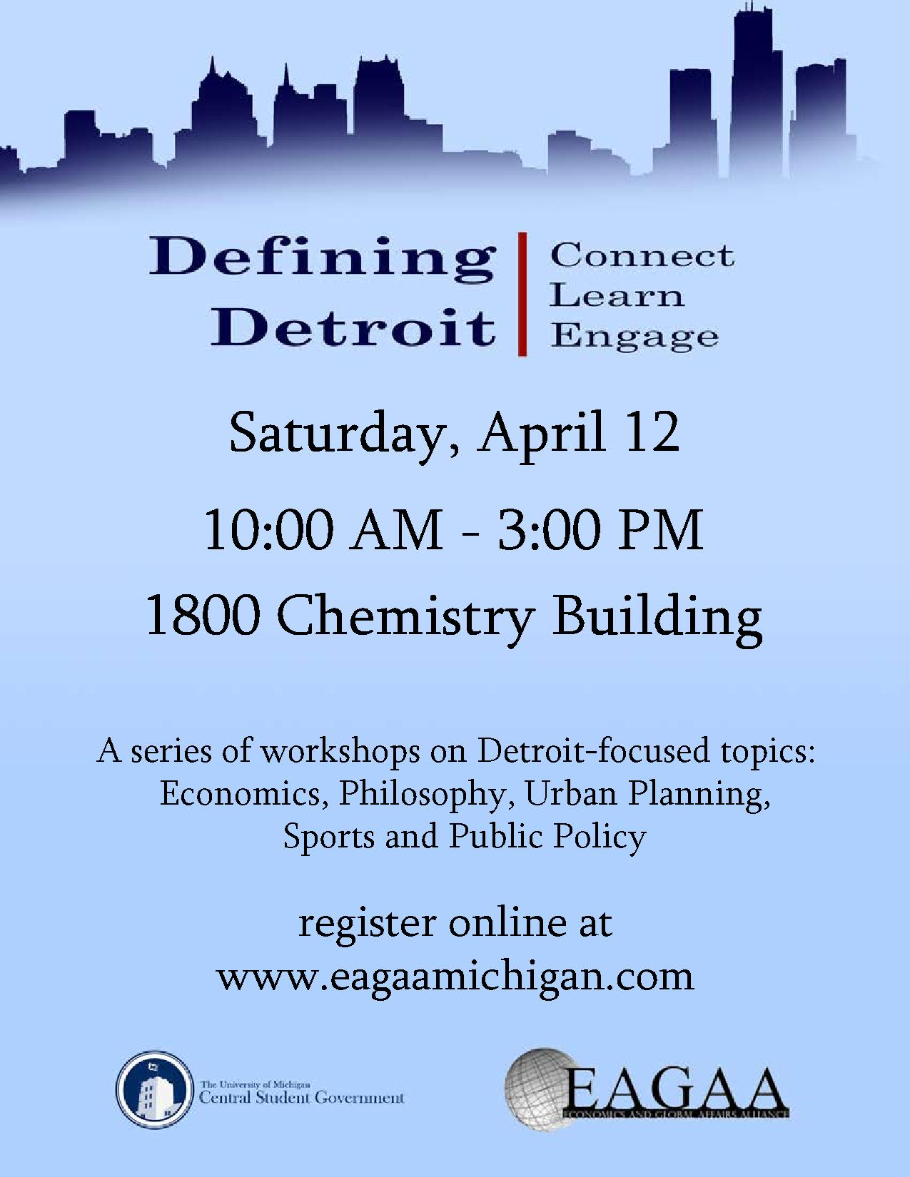 Invitation to the Defining Detroit Conference Campus Involvement