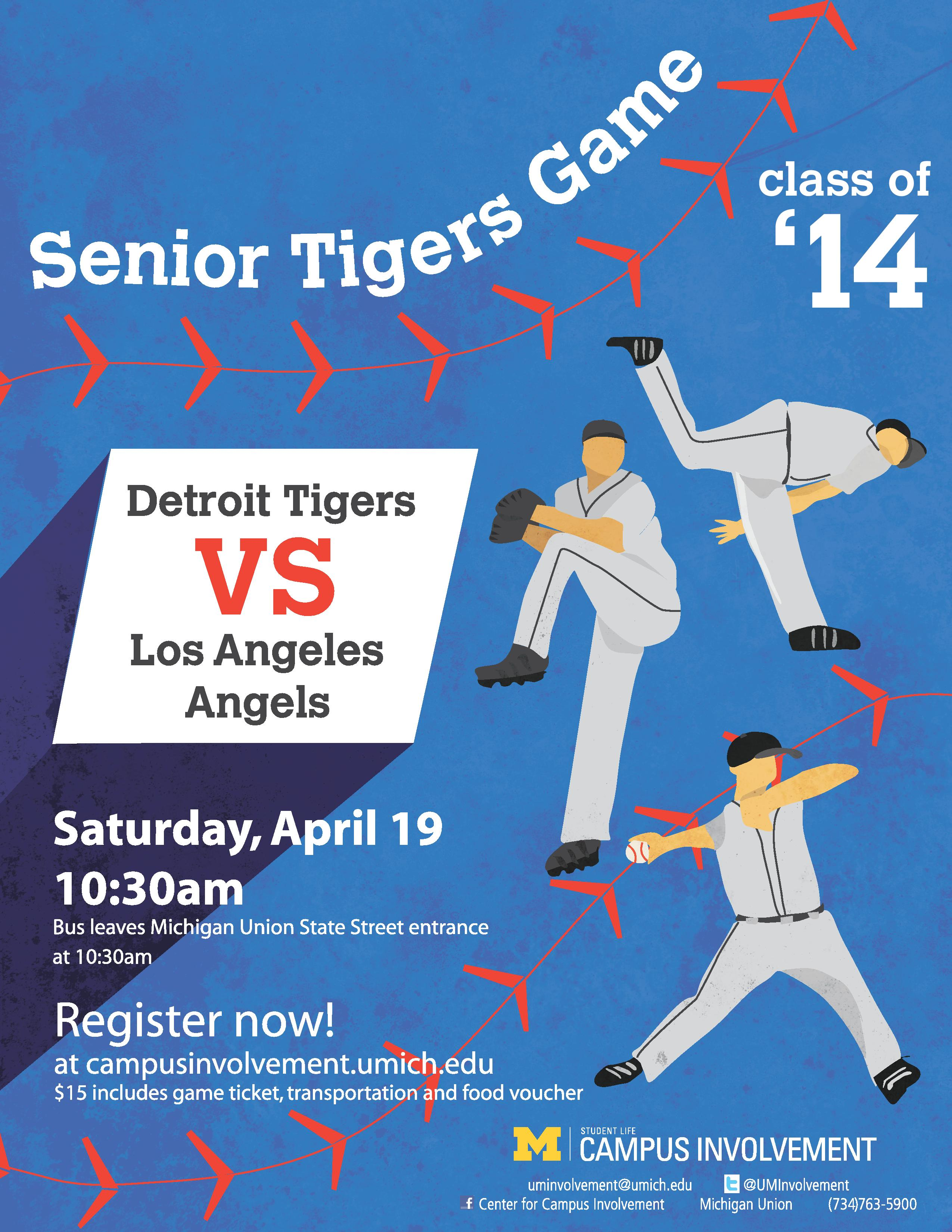 Cap & Gown Countdown 2014 - Tigers Game | Campus Involvement