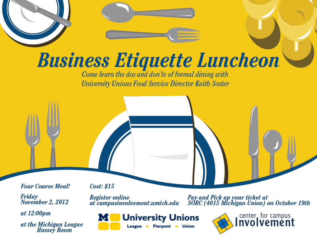 business lunch etiquette The business lunch: a timeless tradition whether it's going to lunch to discuss marketing strategies or sealing a business deal, you're sure to be faced with.