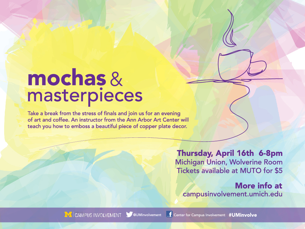 Mochas & Masterpieces: Copper Plate Embossing   Campus