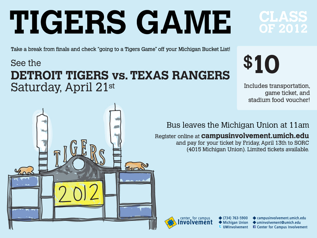 CAP & GOWN COUNTDOWN - TIGERS GAME | Campus Involvement