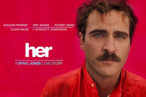 "Join us on Wednesday, April 16, 2014 in the Vandenburg Room of the Michigan League at 6:30 pm to watch a free screening of the movie ""Her."""