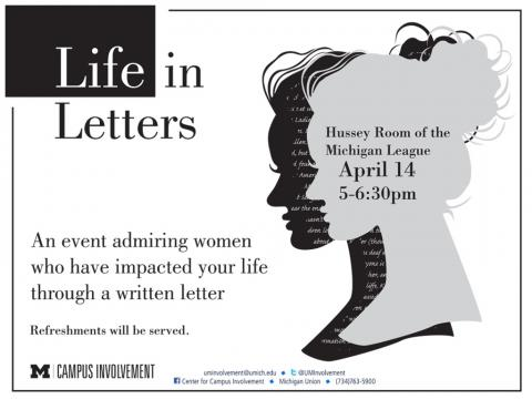 Life In Letters on 4/14/2014 in the League, Hussey Room