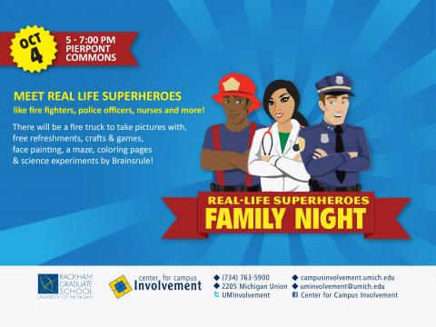family night on 10/4 from 5p-7p at pierpont commons