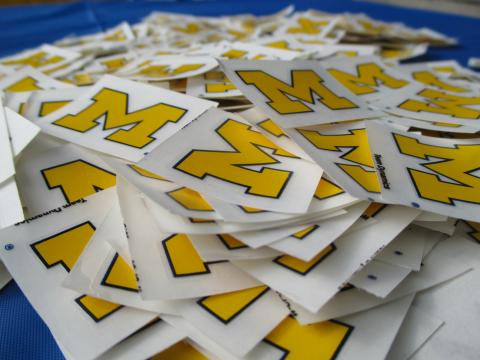 Michigan Logo stickers
