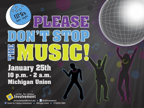 Please Don't Stop The Music! flyer