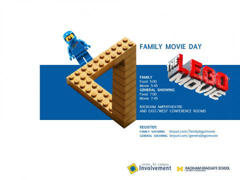 The Lego Movie - Dinner and Screening, May 16