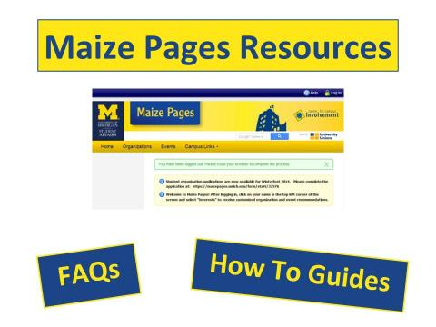 Maize Pages Resources