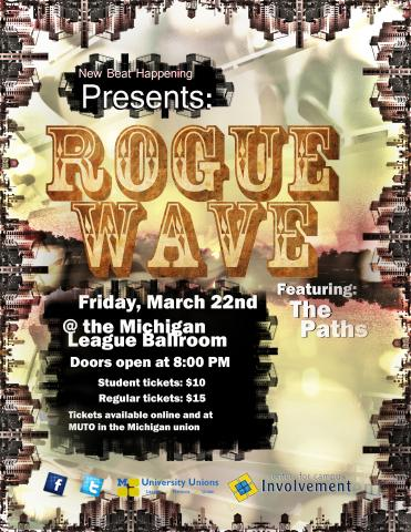 Rogue Wave band flyer