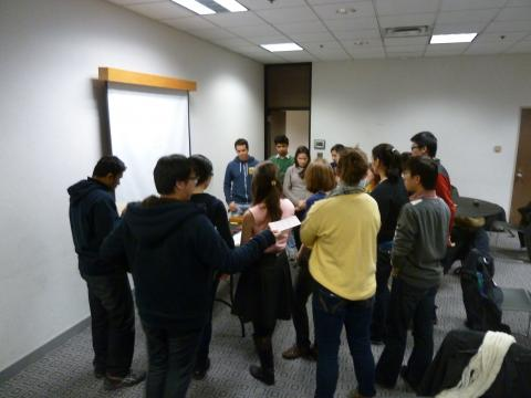 Students networking