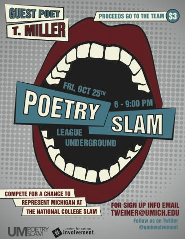 Poetry Slam with Guest Performer T-Miller