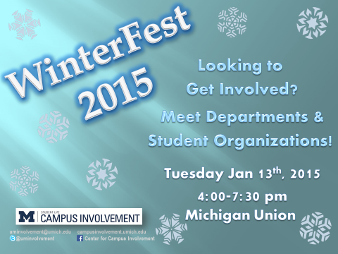 winterfest graphic, 1/13/15, 4-7:30, Michigan Union