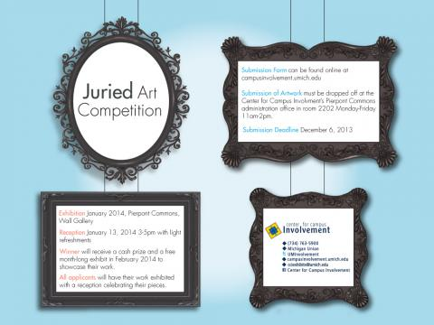 Juried Art Competition, submission deadline 12/6