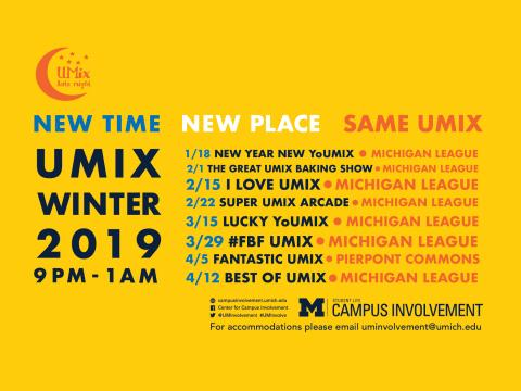 UMix Winter Schedule