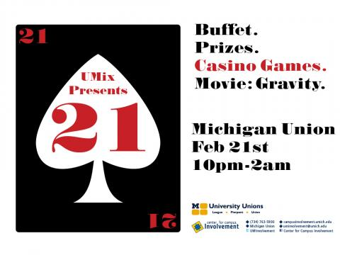 Join us on Friday, February 21st from 10 pm-2 am to celebrate UMix: 21!