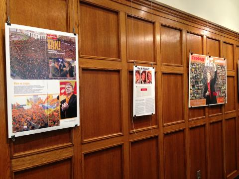 The Orange Revolution in Ukraine: Presidential Campaign Memorabilia Exhibit, 9/29-10/11 in Michigan Union Art Lounge
