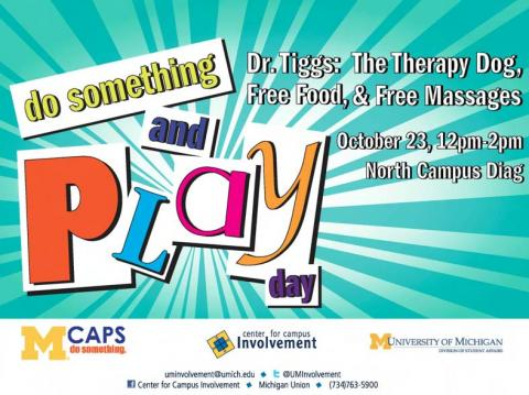 PlayDay in Pierpont Atrium on 10/23 from 12p-2p