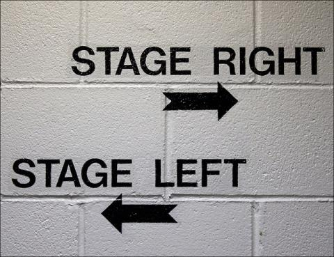 stage right, stage left