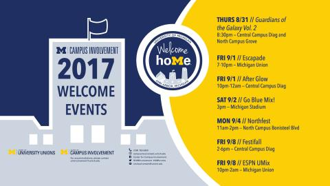 Center for Campus Involvement 2017 Welcome Events
