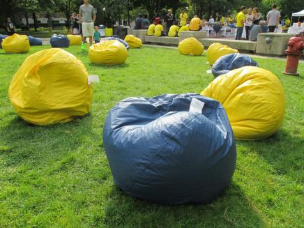 Beanbag chairs on the Diag