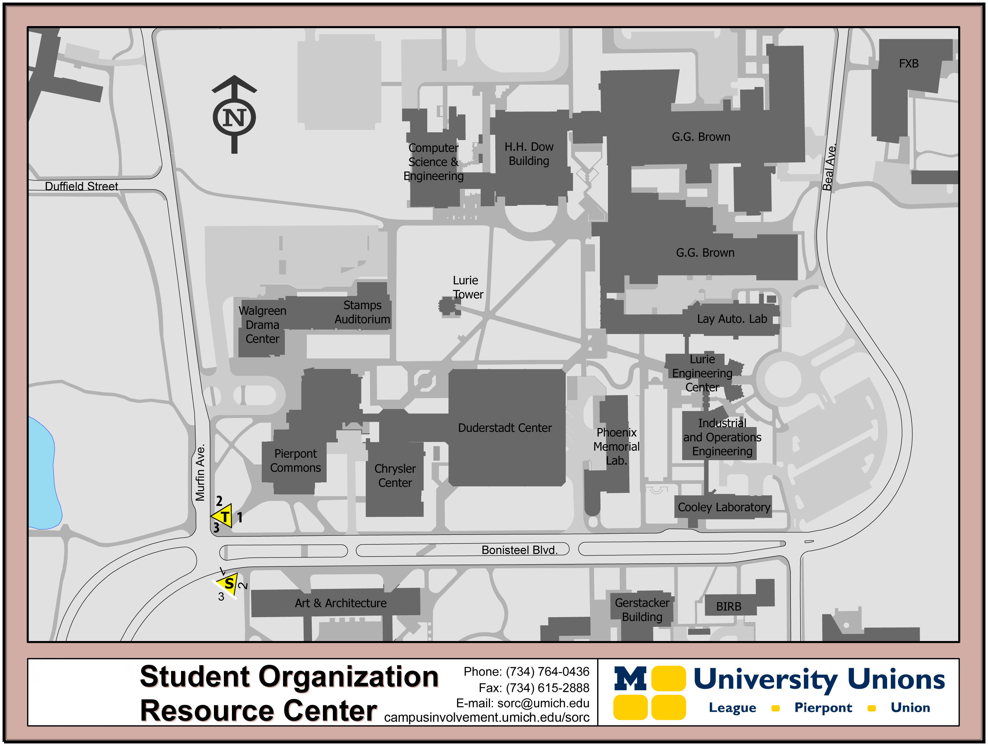 Diag Boards North Campus Map Sorc
