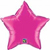 Picture of Magenta Mylar Star