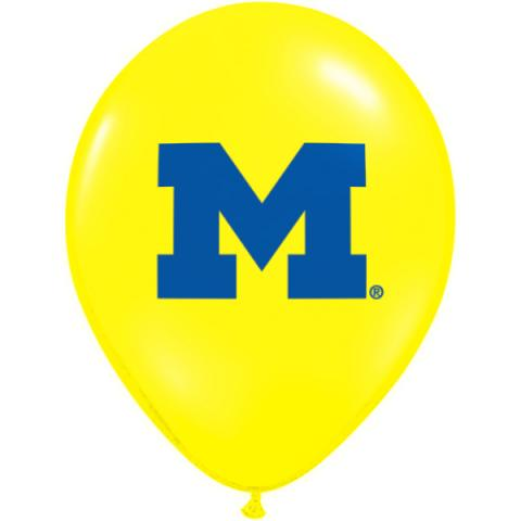Yellow balloon with block M