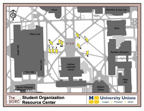 Map of Diag Banner Locations