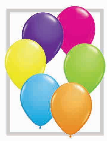 array of balloons
