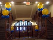 Victors centerpieces inside front entrance of Michigan Union